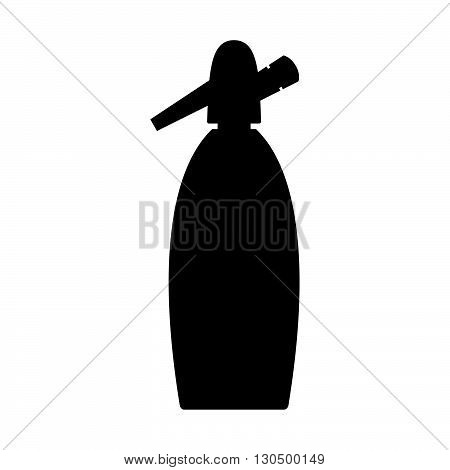 Siphon ( shade picture ) on white background
