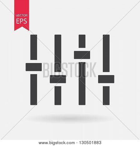 Equalizer Icon Vector. Flat design. Equalizer sign isolated on white background