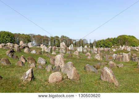 Lindholm Hills called Lindholm Hoje in Danish is a major Viking burial site in Denmark