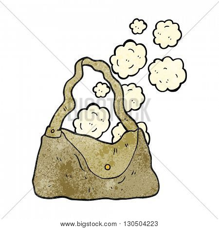 freehand textured cartoon handbag