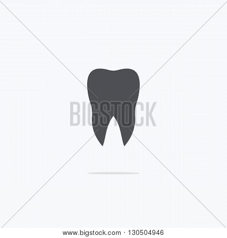 Dentist. Tooth. Icon dentist. Logo dentist. Vector illustration on a light background.