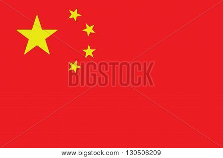 Vector of official flag of China country, chinese flag illustration