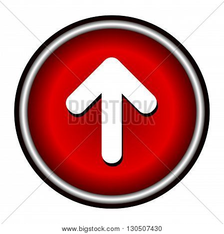 Up Rounded Arrow icon on white background