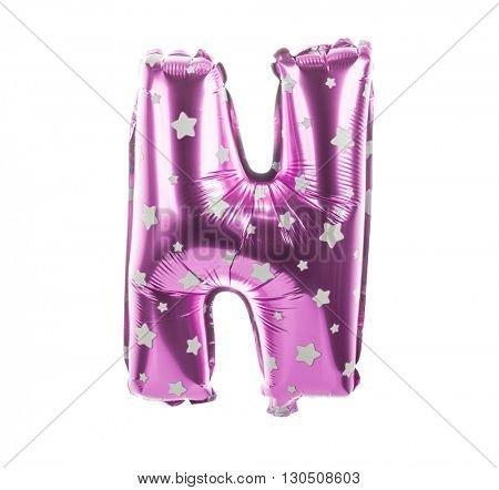 Balloon font with stars part of full set upper case letters, N