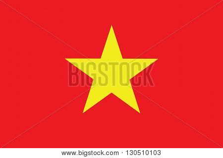 Vector of official flag of Vietnam country, Vietnam flag illustration