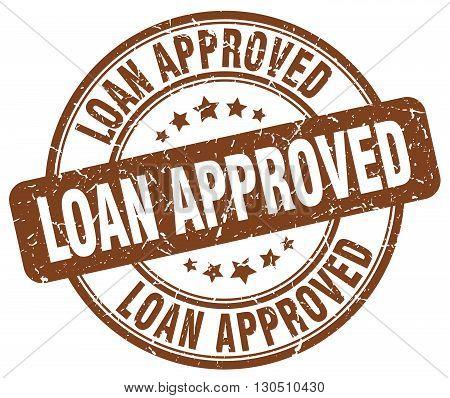 loan approved brown grunge round vintage rubber stamp