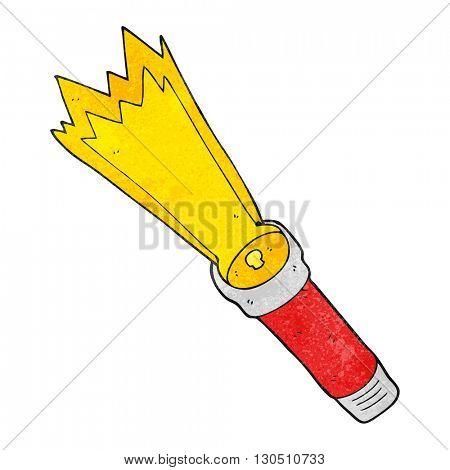 freehand textured cartoon torch