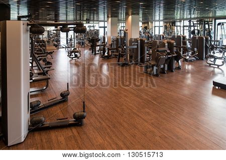 Exercise Machines In A Modern Gym