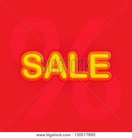 sale with discount sign, flat vector illustration for your projects