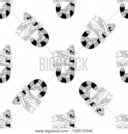 Seamless pattern for print textile design or paper wrapping.Candy Cane