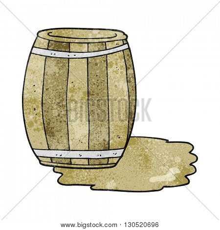 freehand textured cartoon barrel; beer