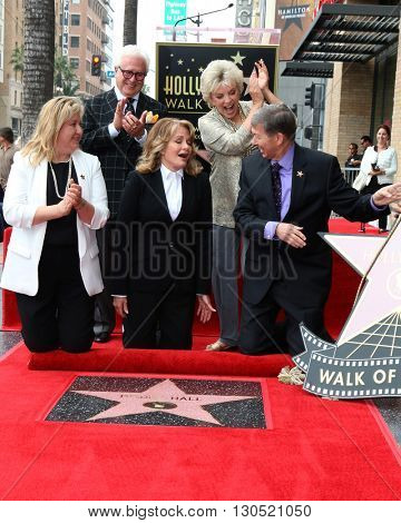 LOS ANGELES - MAY 19:  Deidre Hall, Chamber officials, Susan Seaforth Hayes at the Deidre Hall Hollywood Walk of Fame Ceremony at Hollywood Blvd. on May 19, 2016 in Los Angeles, CA