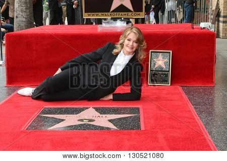 LOS ANGELES - MAY 19:  Deidre Hall at the Deidre Hall Hollywood Walk of Fame Ceremony at Hollywood Blvd. on May 19, 2016 in Los Angeles, CA