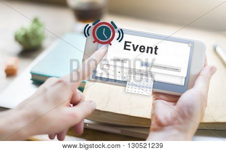 Event Arrangement Banquet Calendar Celebration Concept