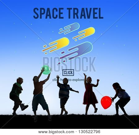 Space Travel Astronomy Exploration Concept