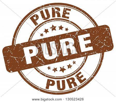 pure brown grunge round vintage rubber stamp