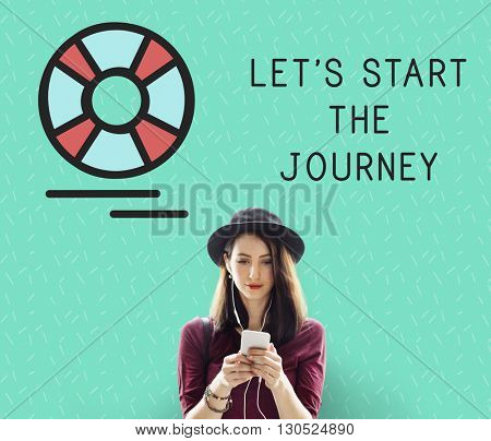 Let's Start the Journey Word Concept