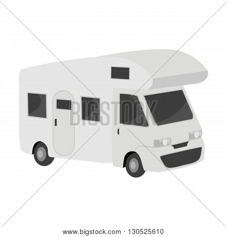 Caravan car. Machine for camping and travel. Vector illustration.