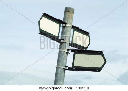 Blank Direction Sign