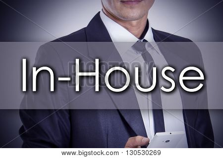 In-house - Young Businessman With Text - Business Concept