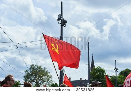 Soviet Flag Waving