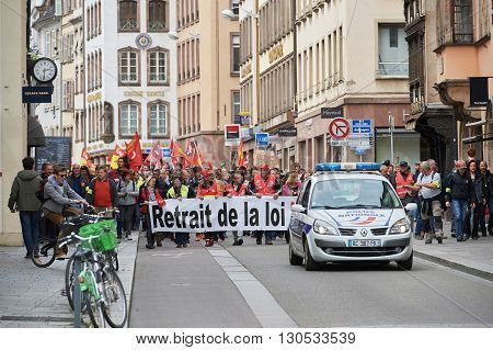 Protest Against Labor Law In France