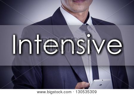 Intensive - Young Businessman With Text - Business Concept
