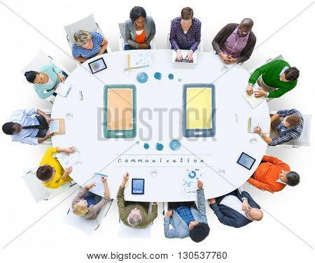 Communication Telecommunication Network Technology Concept