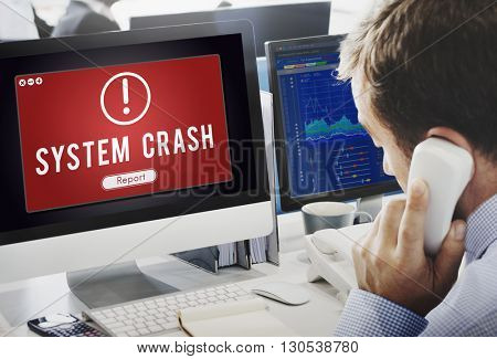 System Crash Network Problem Technology Software Concept