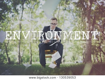 Go Green Business Environment Conservation Environmentalist Concept