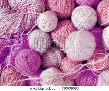 lilac woolen balls