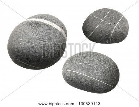 three gray stones