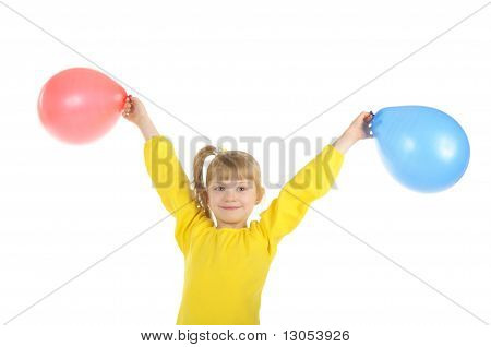 Little Girl With Colour Balls