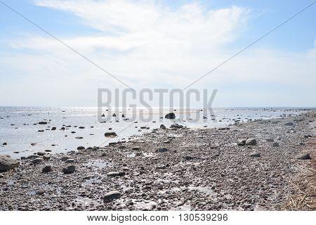 Rocks on the coast of Baltic Sea