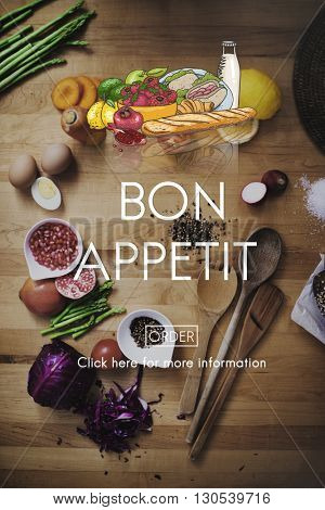 Bon Appetite Delicious Dining Eating Beverage Concept