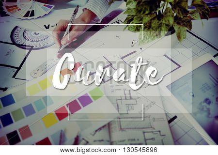 Imagine Create Curate Conceptualize Ideas Concept