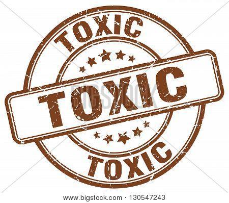 toxic brown grunge round vintage rubber stamp