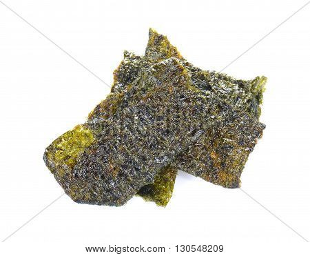 Seaweed fried isolated on a white background.