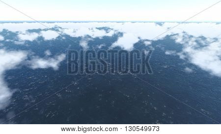 Sky and Clouds ilustration 3D rendering