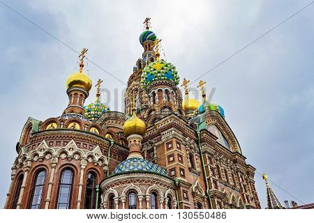Temple of the Savior on Spilled Blood in Petersburg. Russia