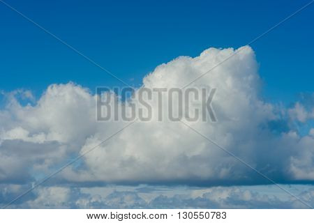 Blue sky with clouds over the Atlantic coast in Morocco.