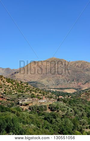 View of the Tajalte Middle Atlas Mountains.