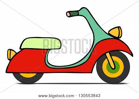 Isolated Classic Moped