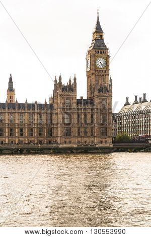 Big Ben and the Palace of Westminster, landmark of London, UK