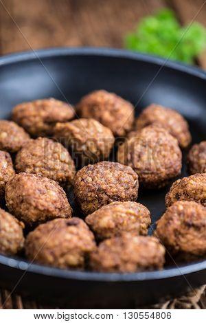 Fried Meatballs (close-up Shot)