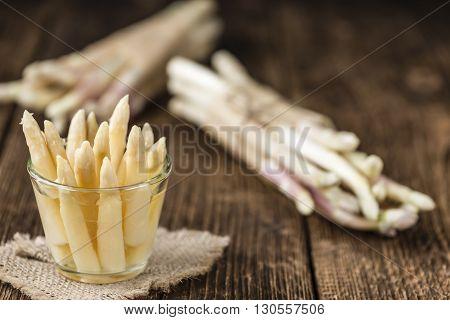 Preserved White Asparagus