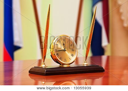 Inkstand With Clock
