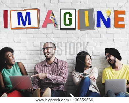 Imagine Planning Creative Imagination Concept