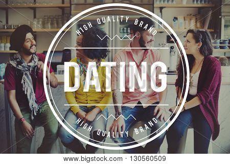 Dating Hangout Flirt Lover Couple Concept