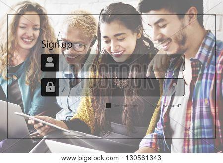 Sign-in Join Membership Register Apply Enter Concept